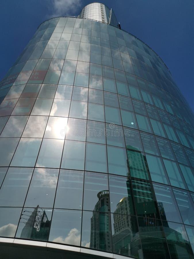 Novotel Platinum soars into blue sky royalty free stock image