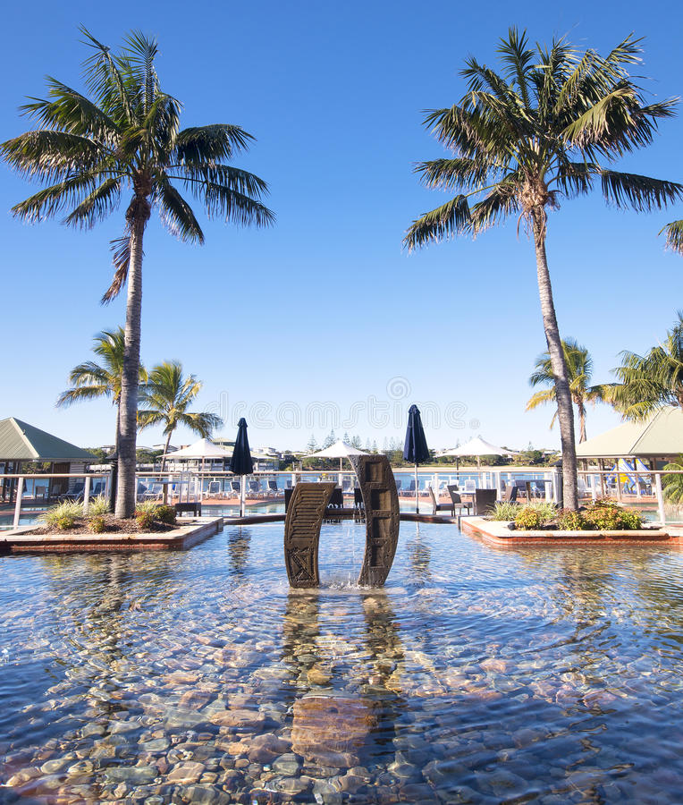 Novotel - Twin Waters Resort. Sunshine Coast, Australia - July 1st, 2014: Hotel in the Sunshine Coast that offers 4 star accommodations and is centrally located stock photo