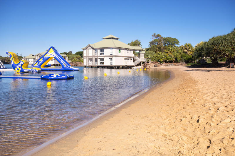 Novotel - Twin Waters Resort. Sunshine Coast, Australia - July 1st, 2014: Hotel in the Sunshine Coast that offers 4 star accommodations and is centrally located royalty free stock photos