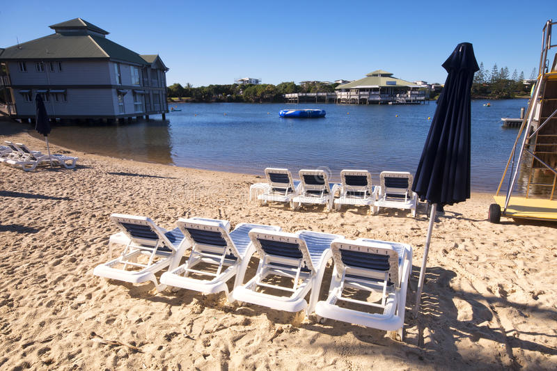 Novotel - Twin Waters Resort. Sunshine Coast, Australia - July 1st, 2014: Hotel in the Sunshine Coast that offers 4 star accommodations and is centrally located stock photos