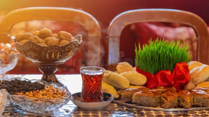 Novruz. Azerbaijani traditions. New Year. Selective focus stock image