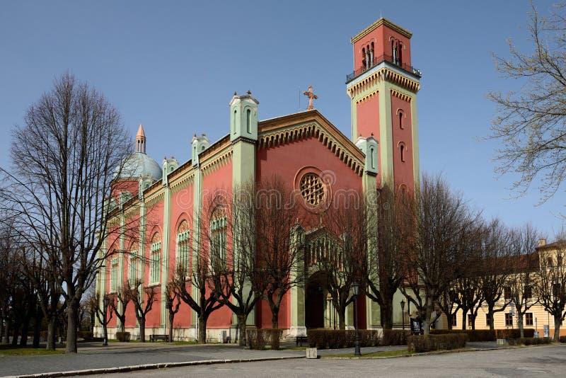 Novy evanjelicky kostol, Kezmarok, Sistani obraz stock