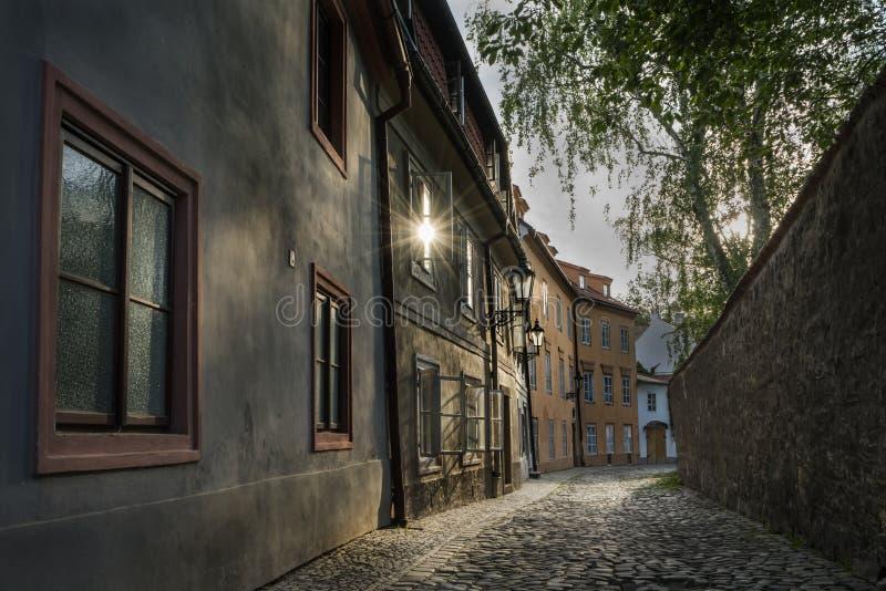 Novy Svet okręg w Praga obraz royalty free