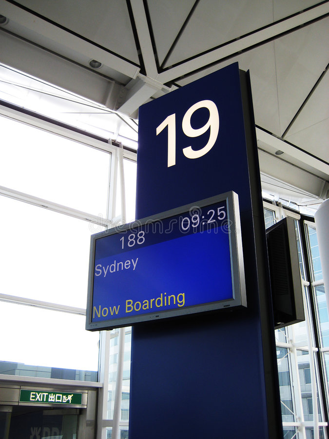 Free Now Boarding For Sydney Stock Photography - 2984512