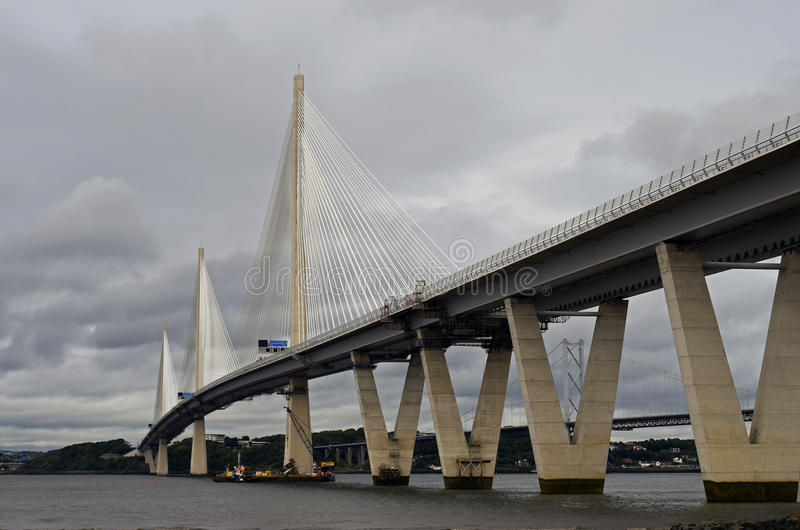New Queensferry crossing bridge stock images