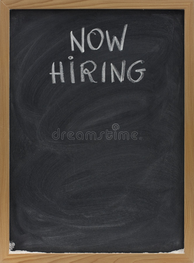 Download Now Hiring Text On Blackboard Royalty Free Stock Photo - Image: 8998715