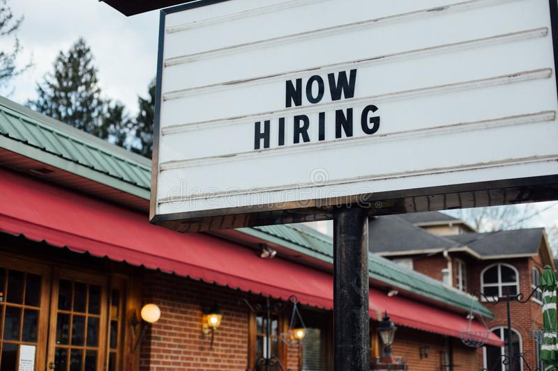 Now hiring typical sign royalty free stock photos