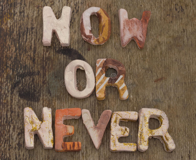 Now or Never concept royalty free stock image