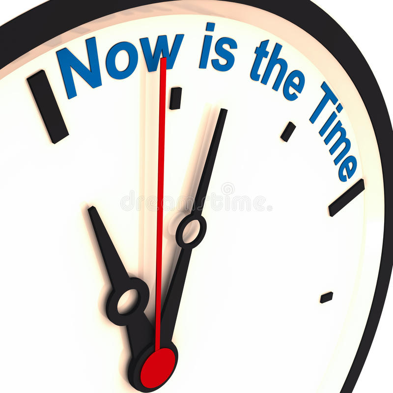 The Time is Now - Clock stock illustration. Illustration of ...