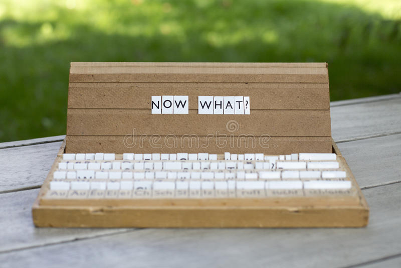 Now what? royalty free stock image