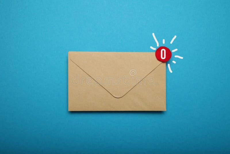 Nowa adres korespondencja, komunikacja biznesowa list obrazy stock