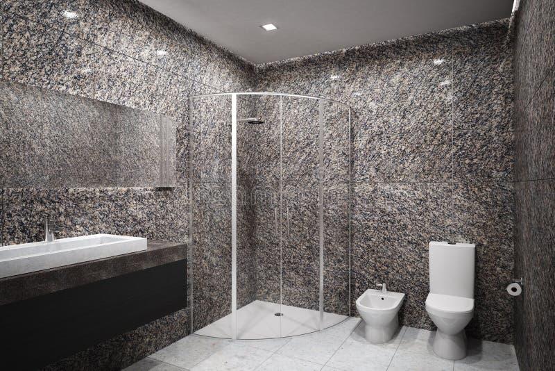 Nowa betonowa łazienka obrazy stock