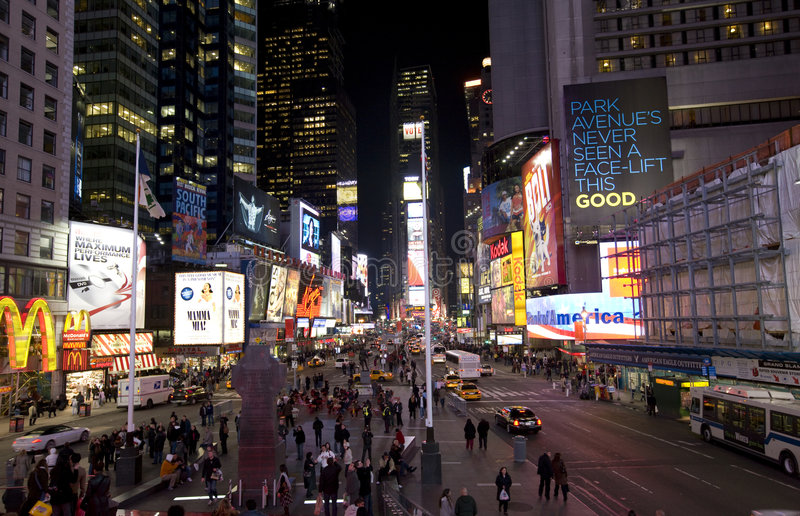 nowa Broadway noc York fotografia royalty free
