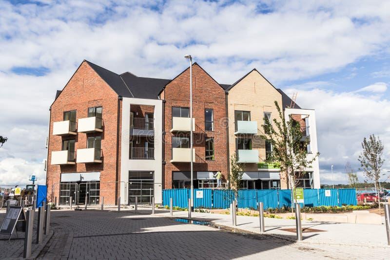 Nowa budowa - blok mieszkaniowy zdjęcie stock