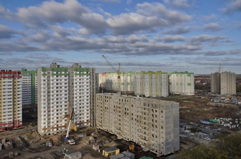 Nowa budowa w Krasnodar mieście obrazy stock