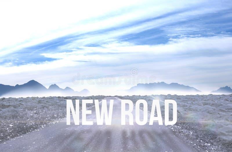 Nowa droga przeciw drogowy prowadzić out horyzont royalty ilustracja