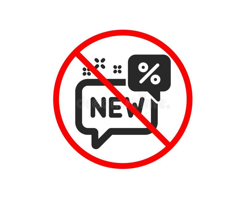 Nowa dyskontowa ikona Sprzedaż zakupy znak wektor ilustracja wektor