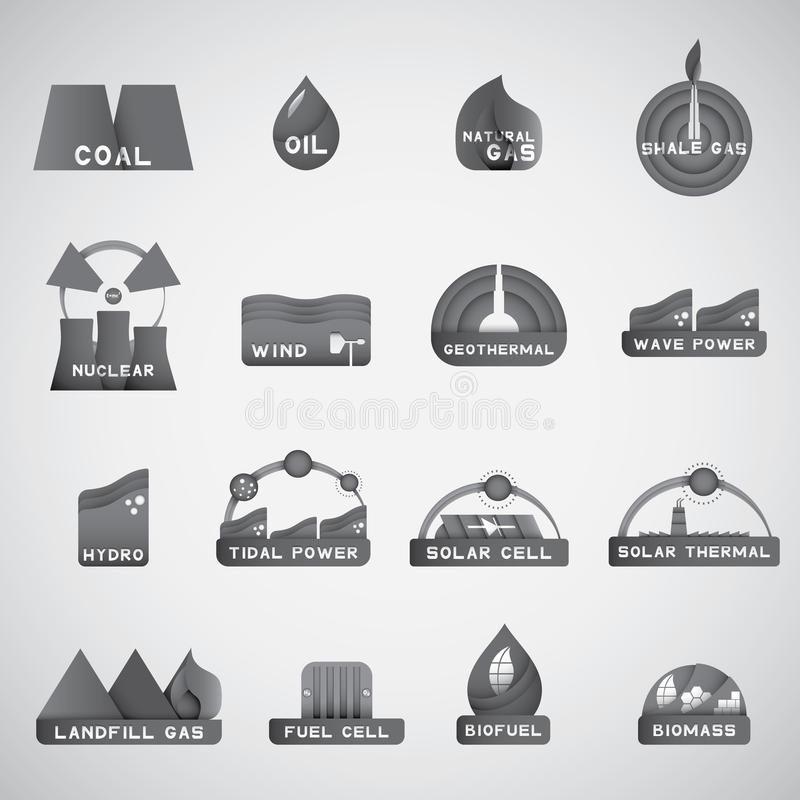 Nowa energetyczna ikona ilustracja wektor