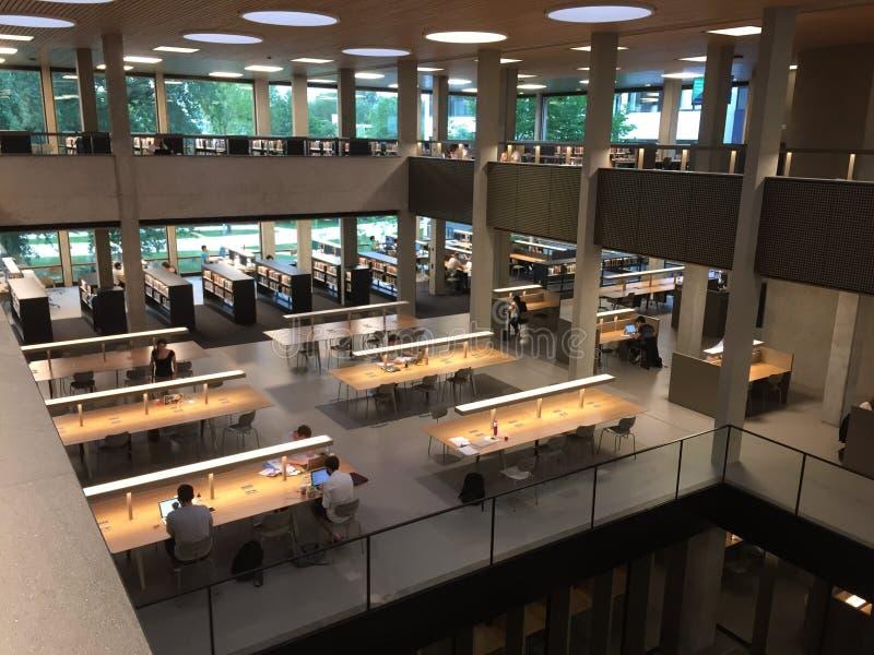 Nowa Erasmus biblioteka uniwersytecka obraz royalty free