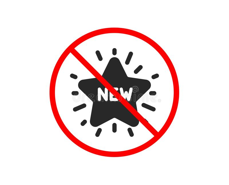 Nowa gwiazdowa ikona Sprzeda? zakupy znak wektor ilustracji