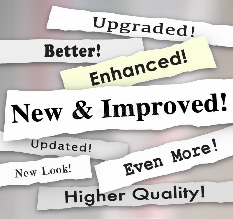 Nowa i Ulepszająca nagłówka prasowego produktu aktualizacja Upgrad Lepiej ilustracji