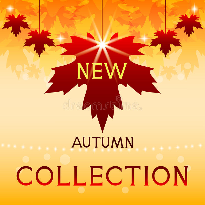 Nowa jesieni kolekcja. Tło z liśćmi klonowymi. royalty ilustracja