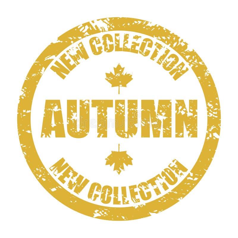 Nowa jesieni kolekcji pieczątka ilustracji