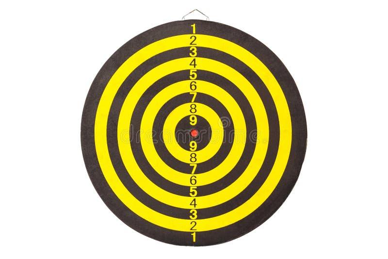 Nowa koloru żółtego i czerni strzałki deska Odizolowywający na bielu obrazy stock