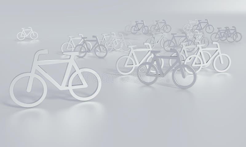 Nowa koncepcja dla bicykli/lów obraz stock