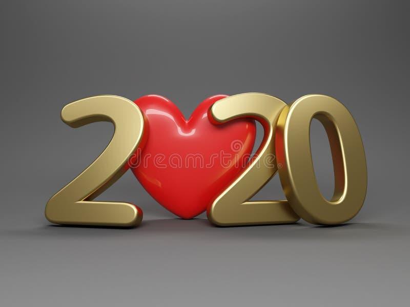 Nowa koncepcja kreatywnego projektu na rok 2020 royalty ilustracja