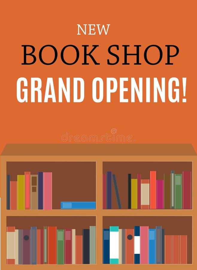 Nowa Książka sklepu Uroczystego otwarcia tło również zwrócić corel ilustracji wektora ilustracja wektor