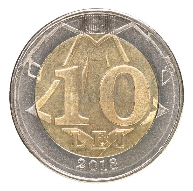 Nowa Moldovan Lei moneta obraz stock
