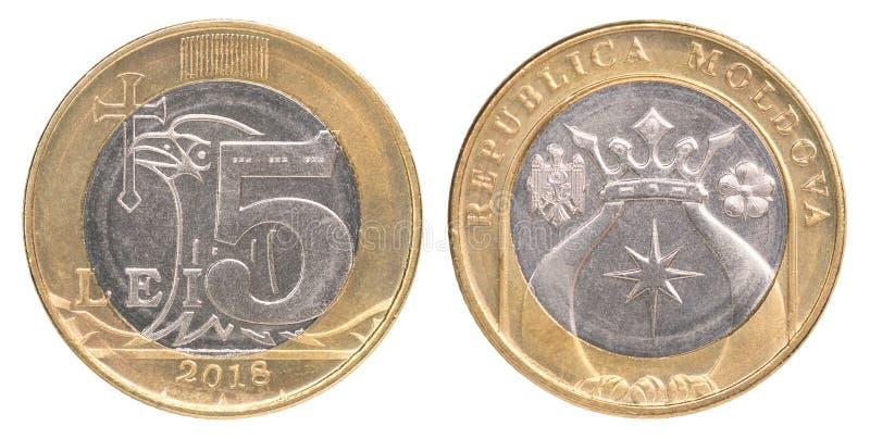 Nowa Moldovan Lei moneta obraz royalty free