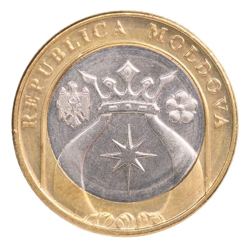 Nowa Moldovan Lei moneta zdjęcia royalty free