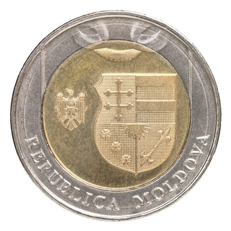 Nowa Moldovan Lei moneta obrazy royalty free