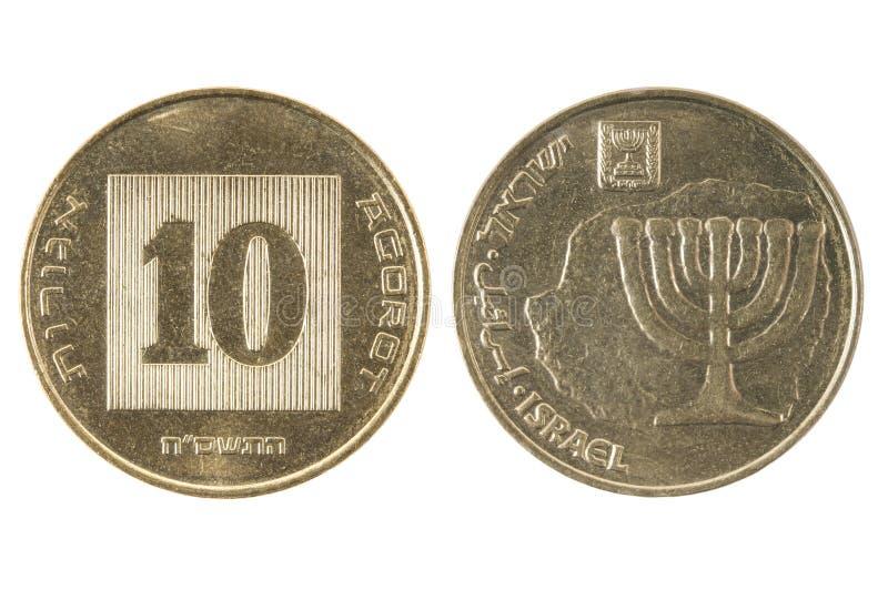 Nowa monety Izrael agora zdjęcia stock