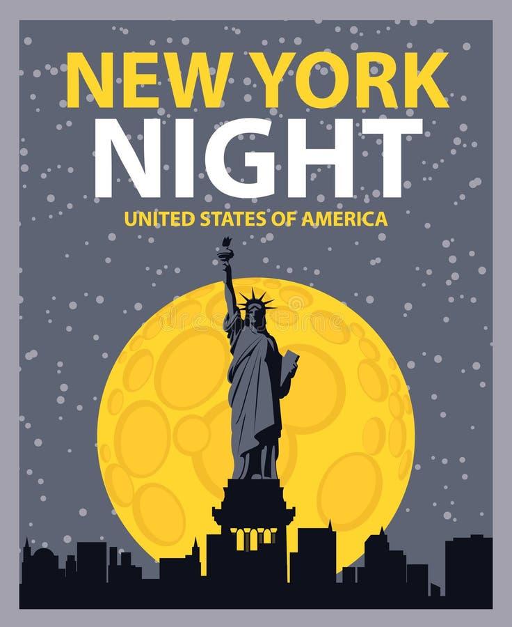 nowa noc York royalty ilustracja