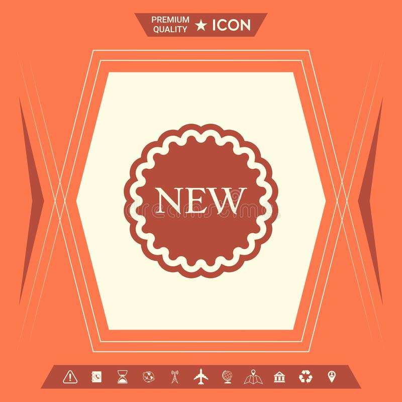Nowa oferty ikona ilustracji