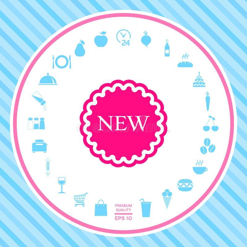 Nowa oferty ikona ilustracja wektor