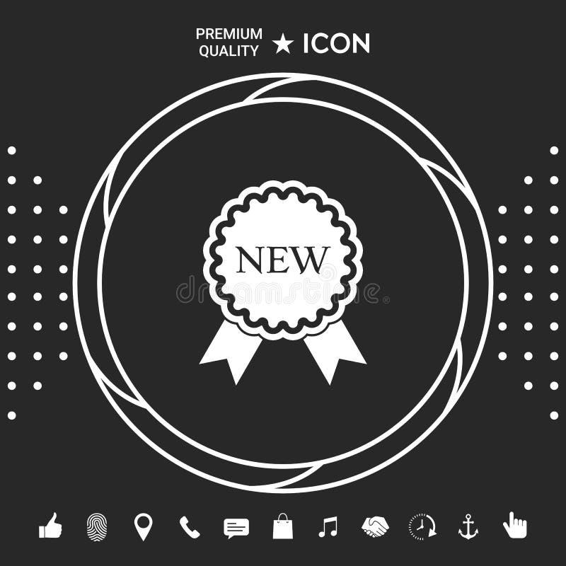 Nowa oferty ikona z faborkami Graficzni elementy dla twój designt royalty ilustracja