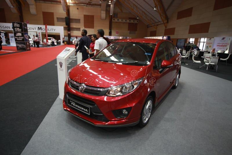 Nowa Protonowa persona być przedstawienie przy 2017 Malezja samochodu autoshow zdjęcie royalty free