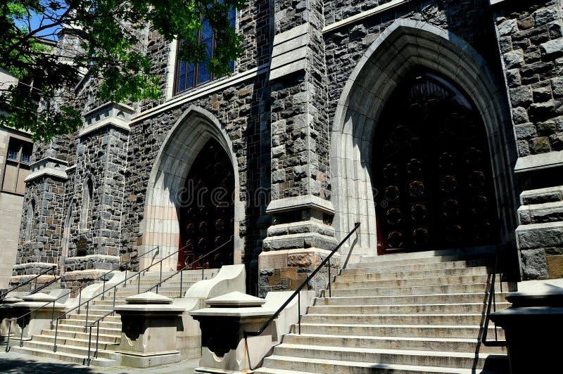 Nowa przystań, CT: St ` s Maryjny kościół katolicki zdjęcie stock