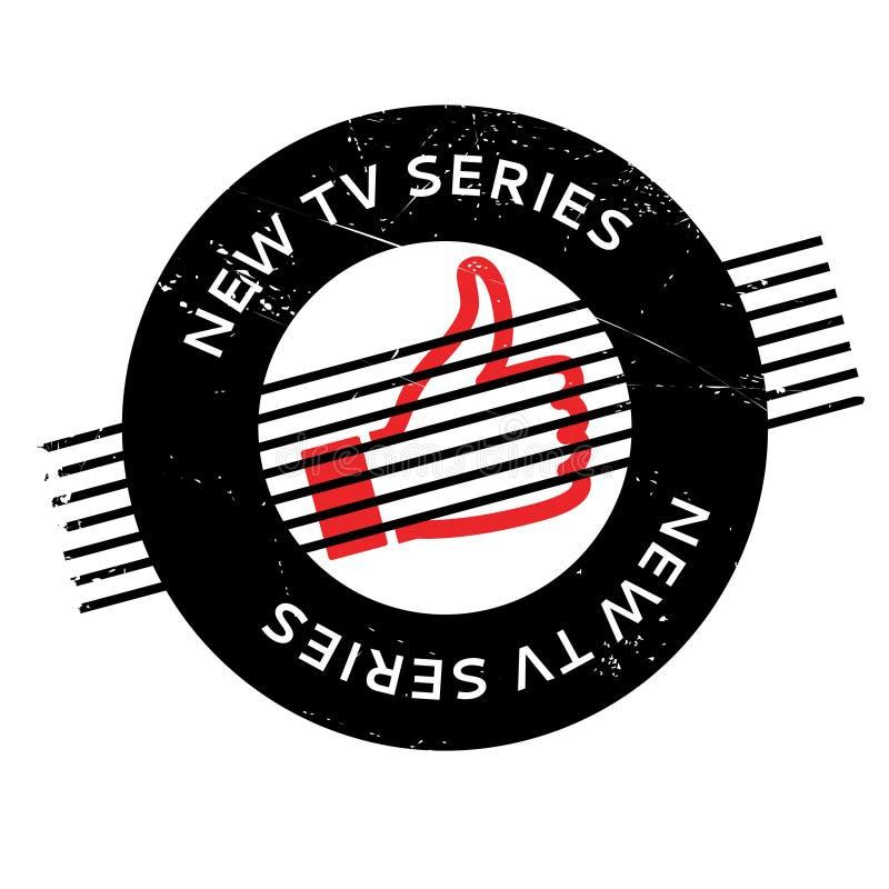 Nowa serial telewizyjny pieczątka royalty ilustracja