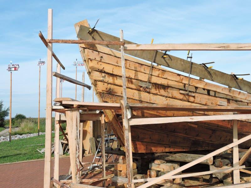 Nowa statek budowa, Lithuania zdjęcia royalty free