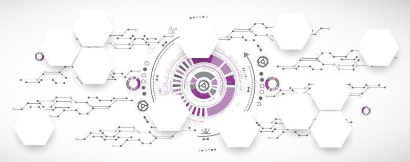 Nowa technologia biznesu tło royalty ilustracja