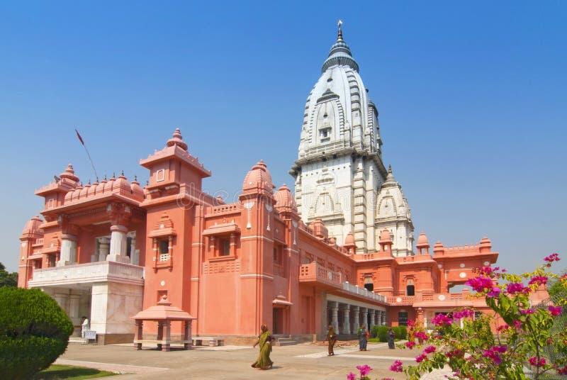 Nowa Vishwanath świątynia Mandir lub Birla, Hinduski uniwersytet, Varanasi, Benares, India obrazy stock