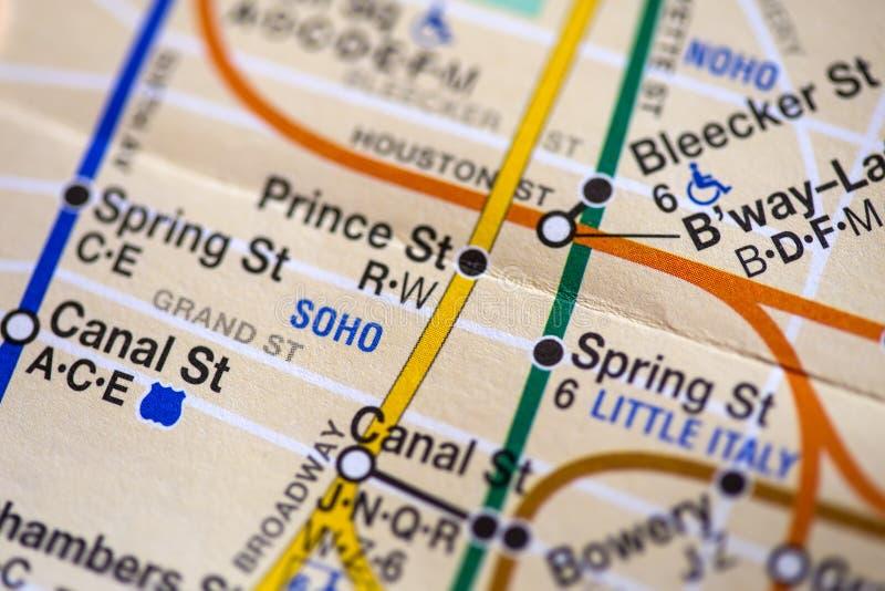 Nowa York miasta mapa zdjęcie royalty free