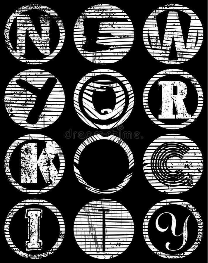 Nowa York miasta typografia; koszulek grafika; wektory ilustracji