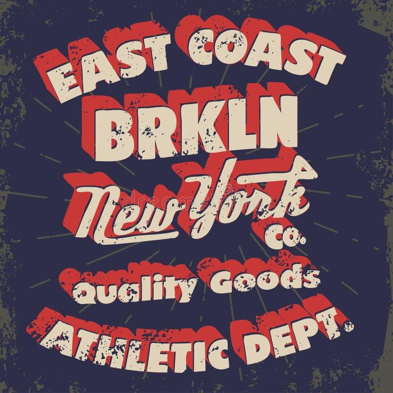 Nowa York typografia, koszulek grafika ilustracja wektor