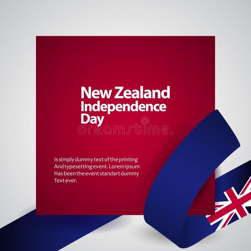 Nowa Zelandia dnia niepodległości projekta Wektorowa ilustracja ilustracji